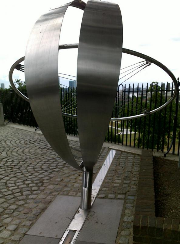 Sculpture located at the Prime Meridian in Greenwich.
