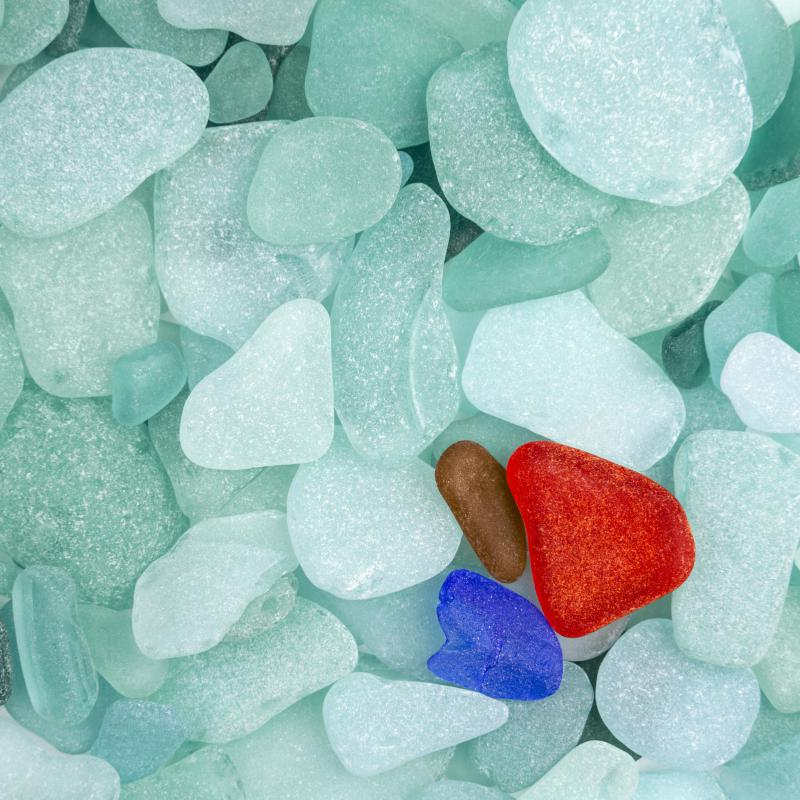 Sea glass is also known as mermaid tears.