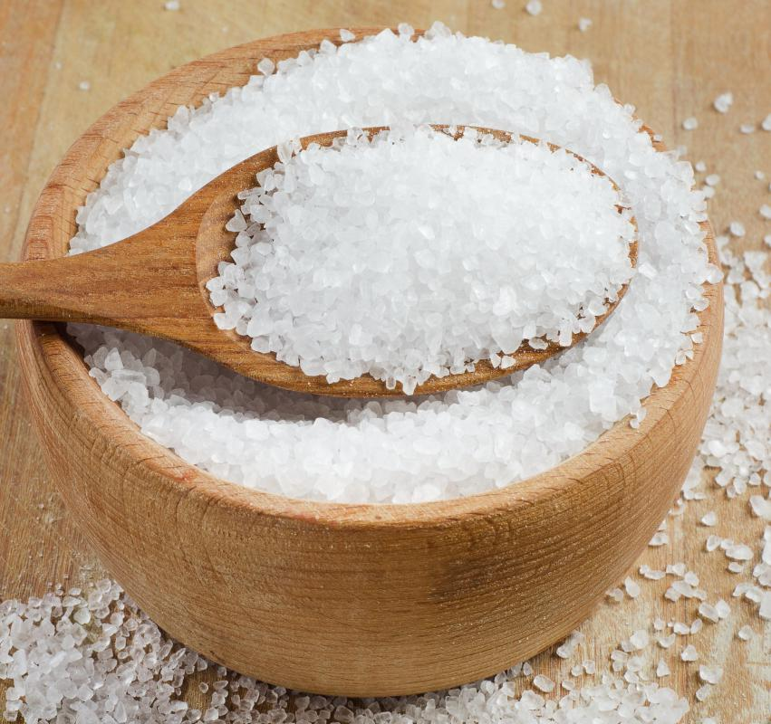 Salt is often mined from inland seas.