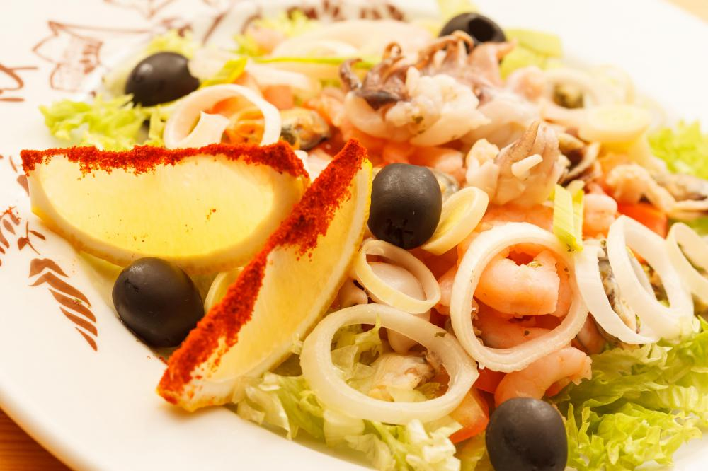 What Are the Different Types of Seafood Salad? (with pictures)