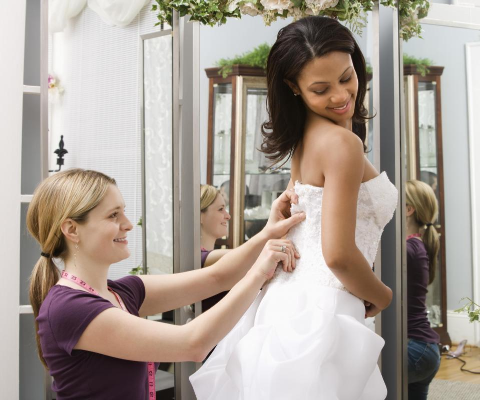 A seamstress is knowledgeable in how clothing should fit the body.