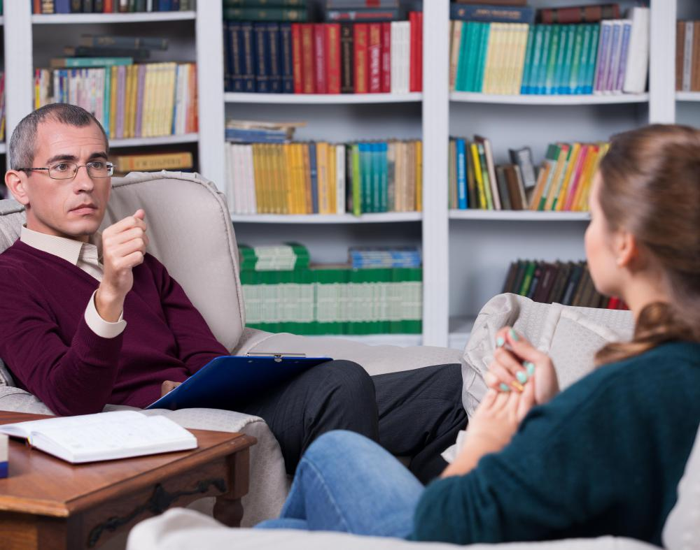 In most cases, conversation is used in therapy.