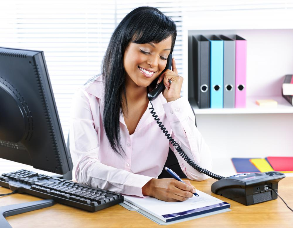 A legal secretary may answer phones or respond to written requests on behalf of a law firm.
