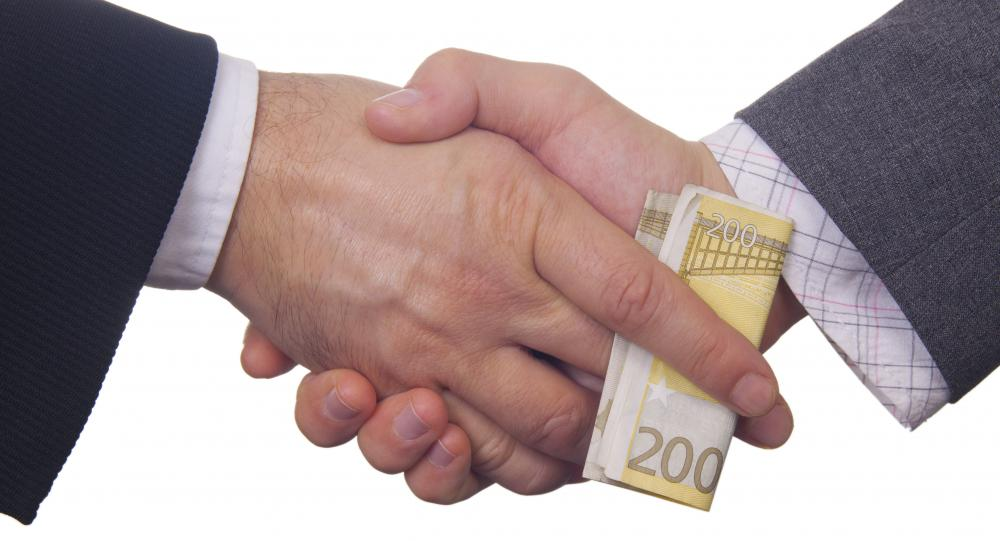 Bribery is usually considered a crime, although it is socially acceptable in some cultures.
