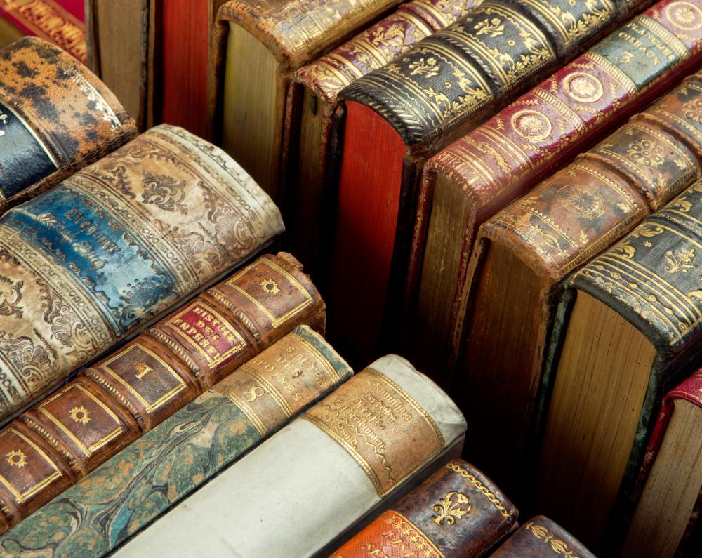 Antique books may be worth a great deal of money.