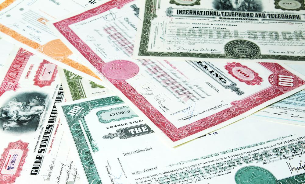 A stock market is a place where investors buy, sell, and trade stock certificates.