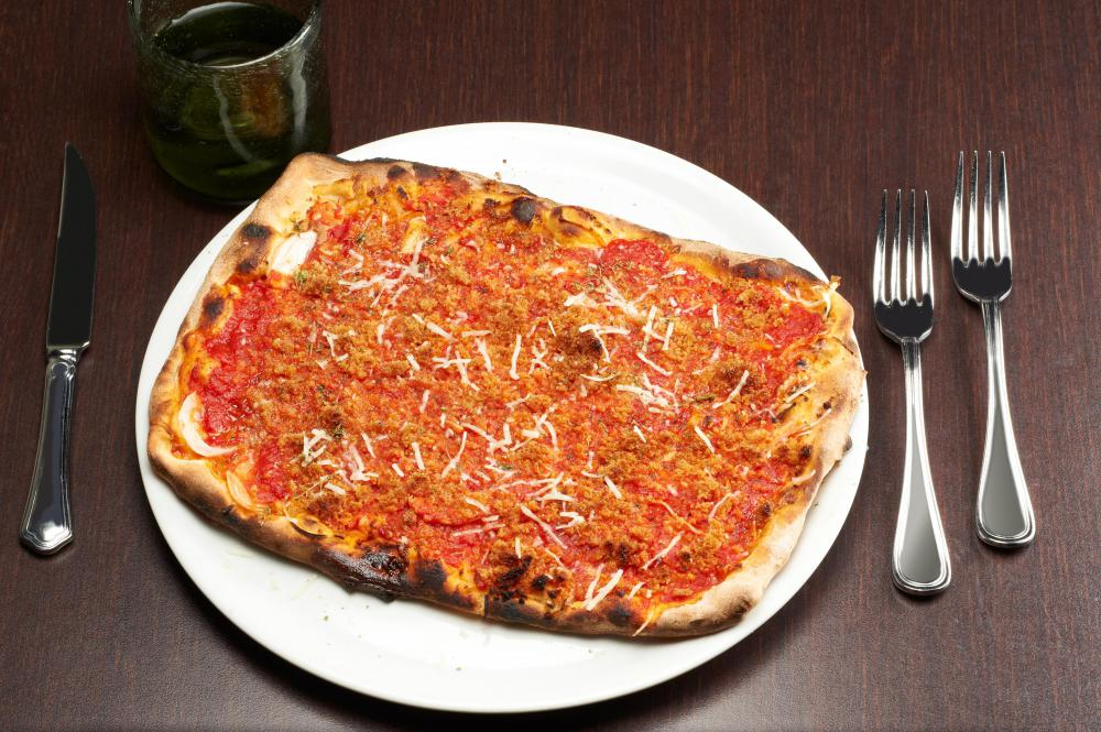 In some regions of Italy, including Sicily, leftovers are used on pizza.