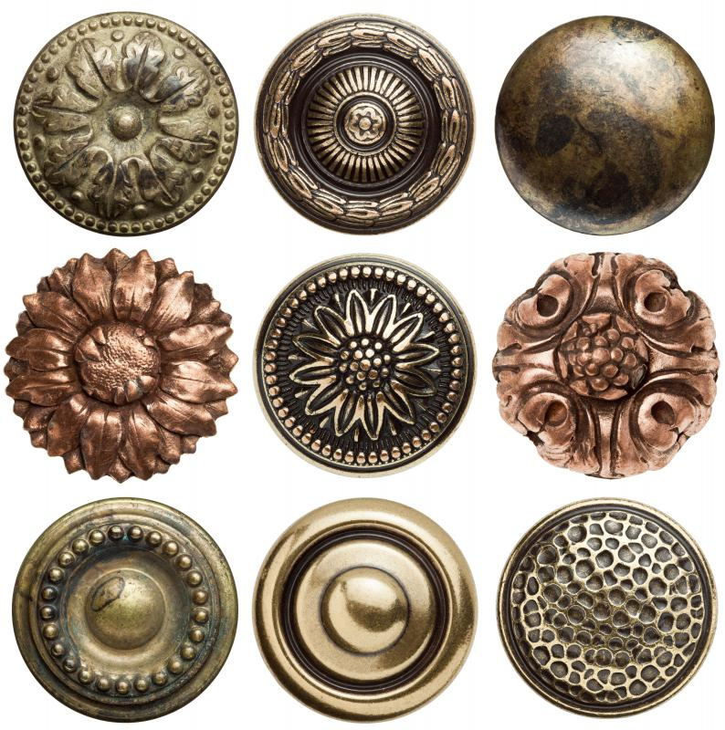 Decorative buttons can be pressed into clay to create a mold.