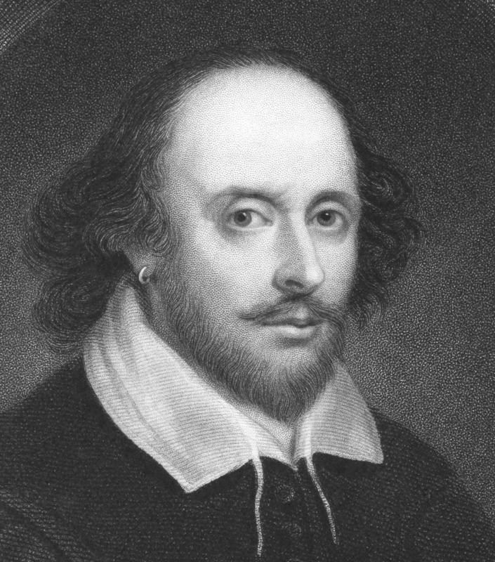 "Shakespeare often utilized rhetorical questions, such as having Shylock ask: ""If you prick us, do we not bleed?"""