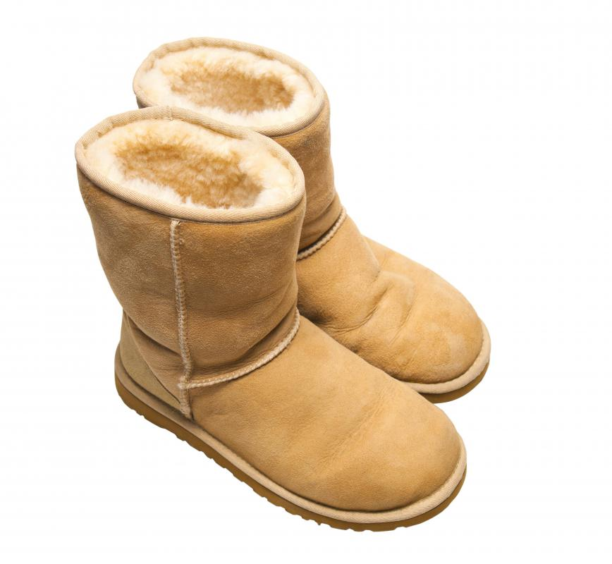 Sheepskin boots are considered to be more fashionable.