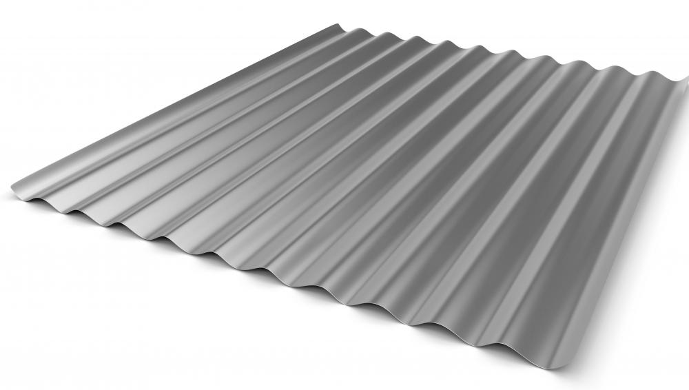 Metal corrugated sheets are often used for roof cladding.