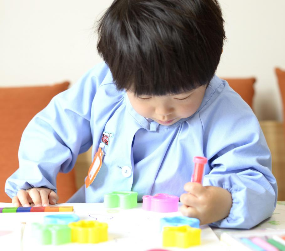 Heavy paper is best for a child playing with washable markers.
