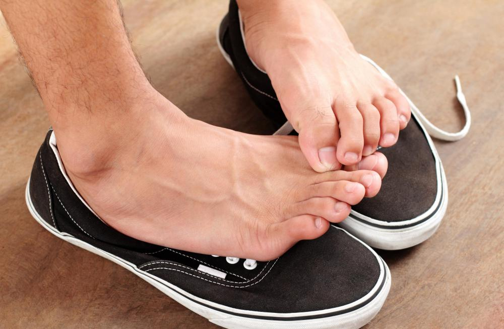 Foot odor can be caused by poor hygiene or by a medical condition.