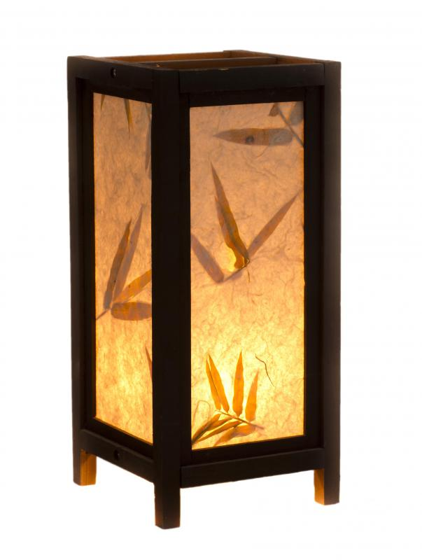 Shoji lamps can give a room a Japanese flair.