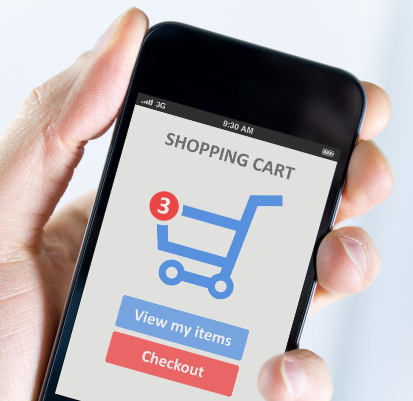 People can use their mobile phones to make purchases online.