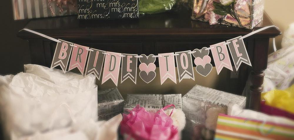 Bridesmaids are generally in charge of planning and decorating.