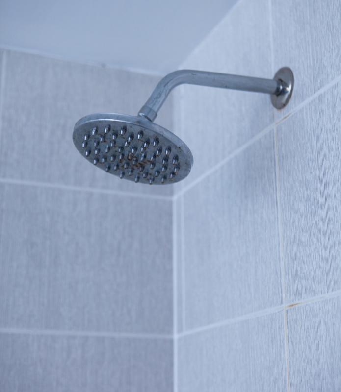 A steam shower room traps water vapor without compromising the drywall or paint of the rest of the room.