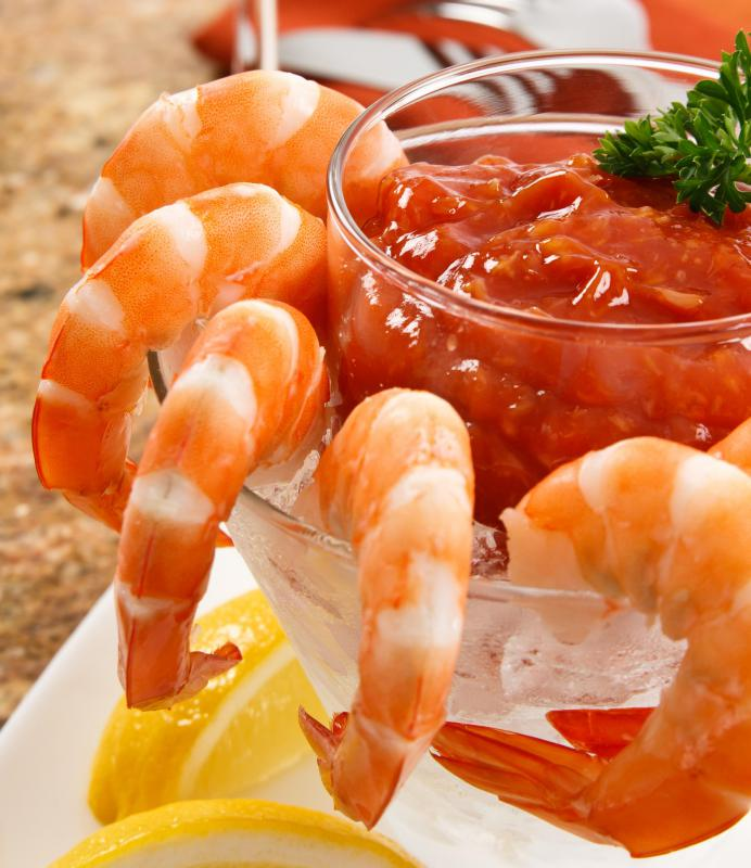 Shrimp cocktails are a fitting food to serve at a Hawaiian-themed party.