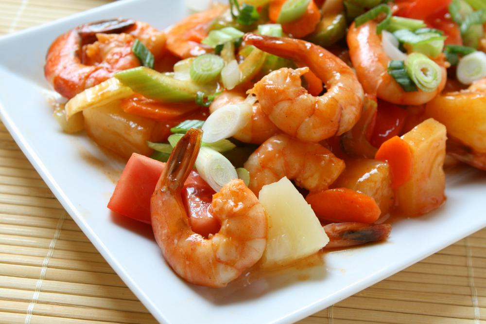 Shrimp is a common addition to stir-fry.