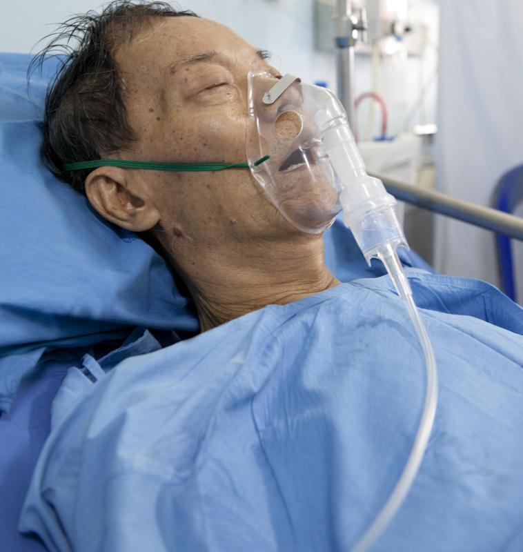 Supplemental oxygen is a common form of inhalation therapy.