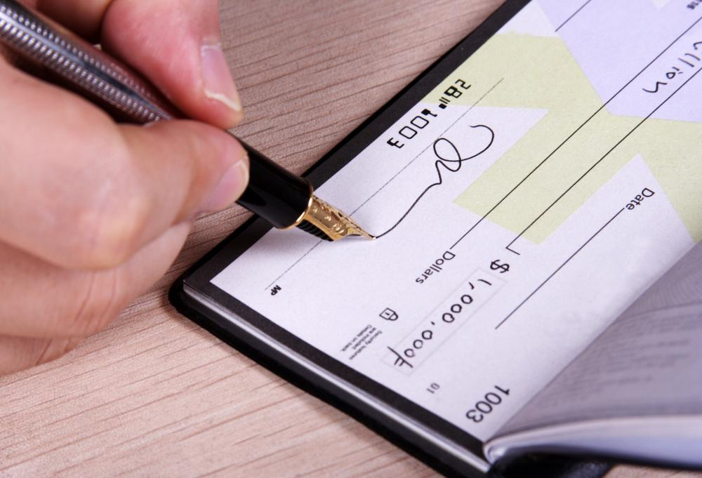 Writing a check for more money than is available can lead to overdraft charges.