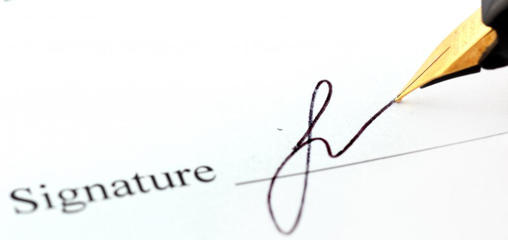 Parties who sign their names to a contract are then bounded to the contract's terms.