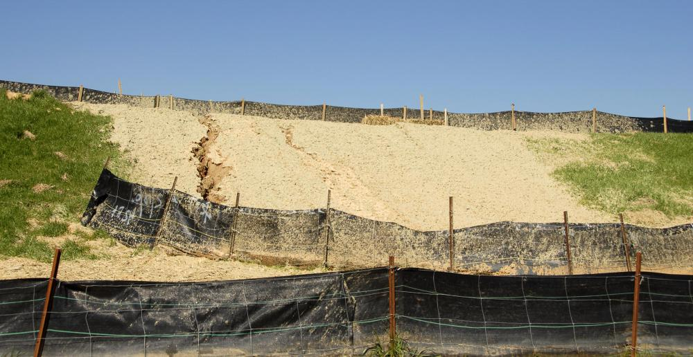 A silt fence may be installed to prevent soil disturbance of an area.