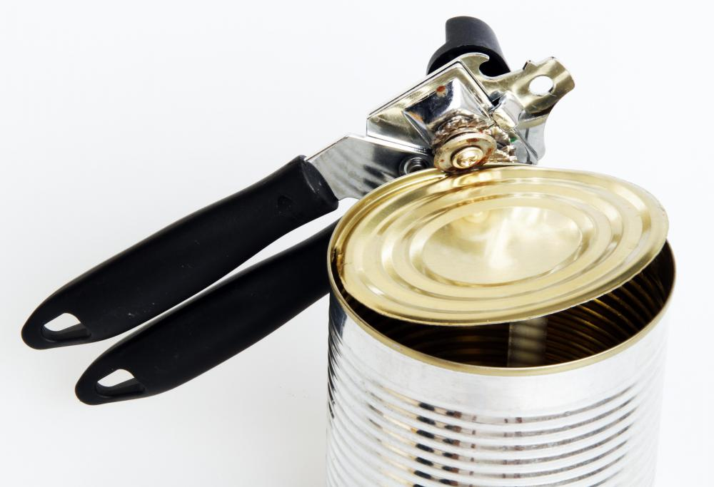 A can opener should be included in a disaster kit.