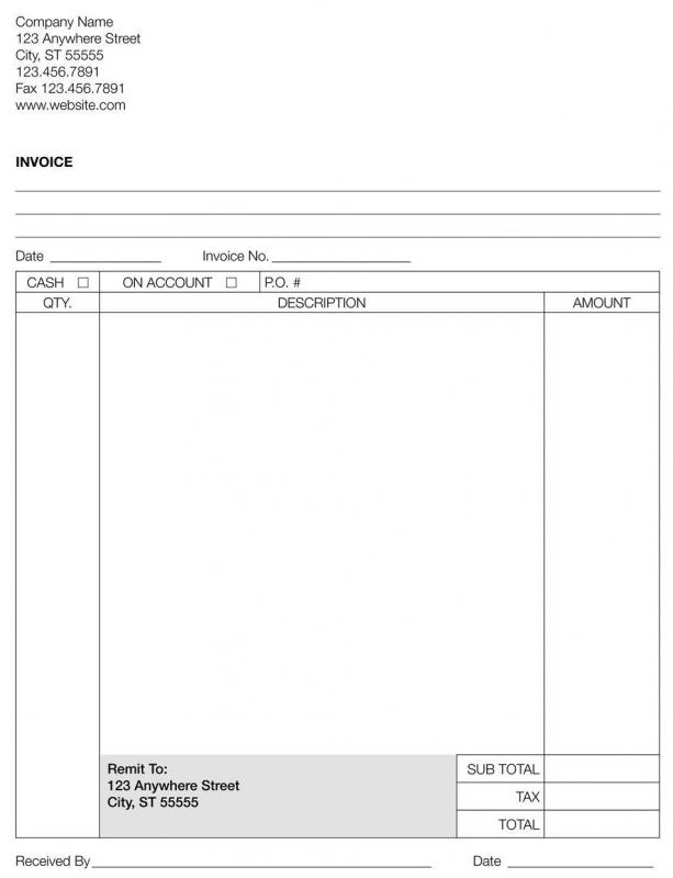 what are the different types of invoice paper with picture
