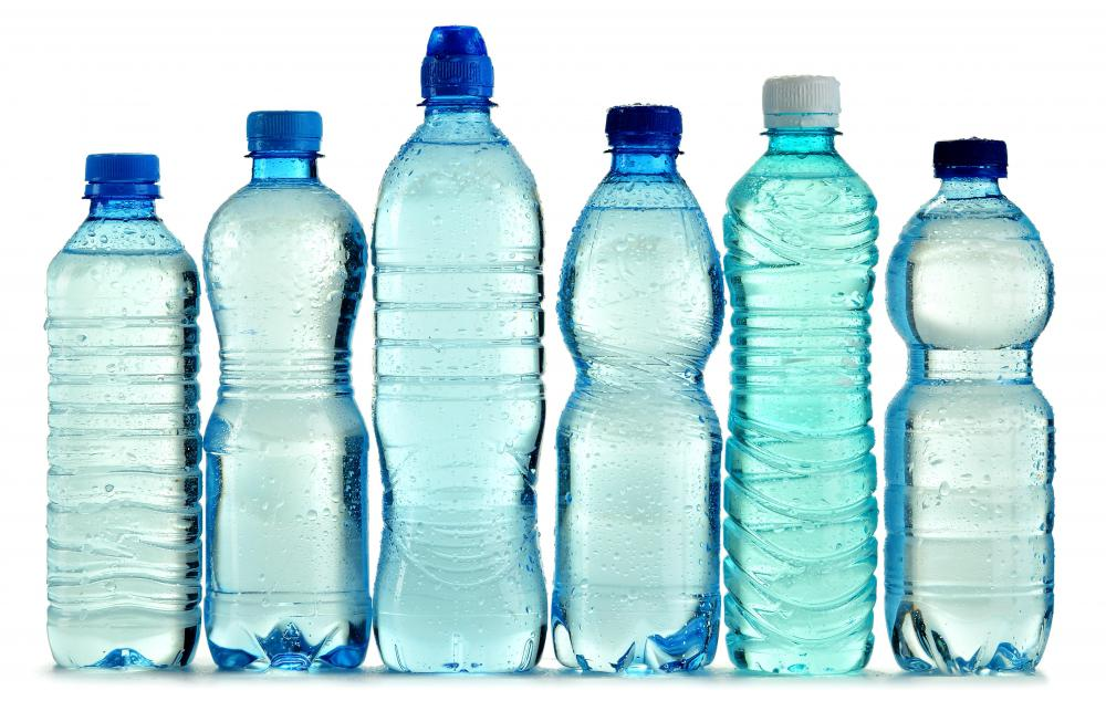 Bottled water can be packed for a rafting trip.