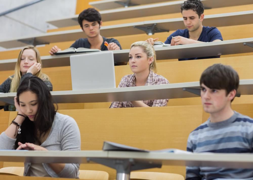 Lecture halls will generally have a dais to elevate the professor for the students in the back rows to see.