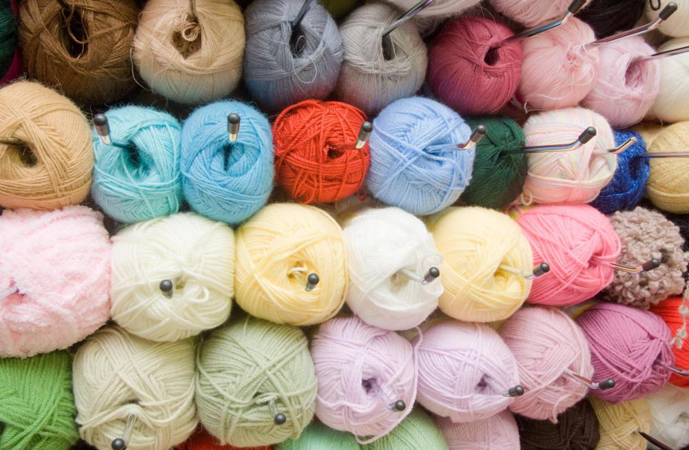 Acrylic yarn is often used in rug making kits.