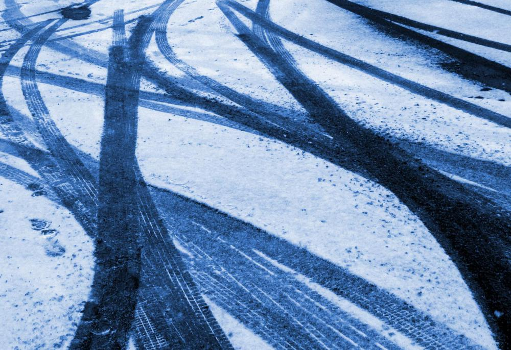 Snow tires can help prevent cars from skidding during winter storms.