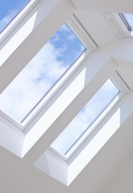 Tempered glass may be featured in skylights.