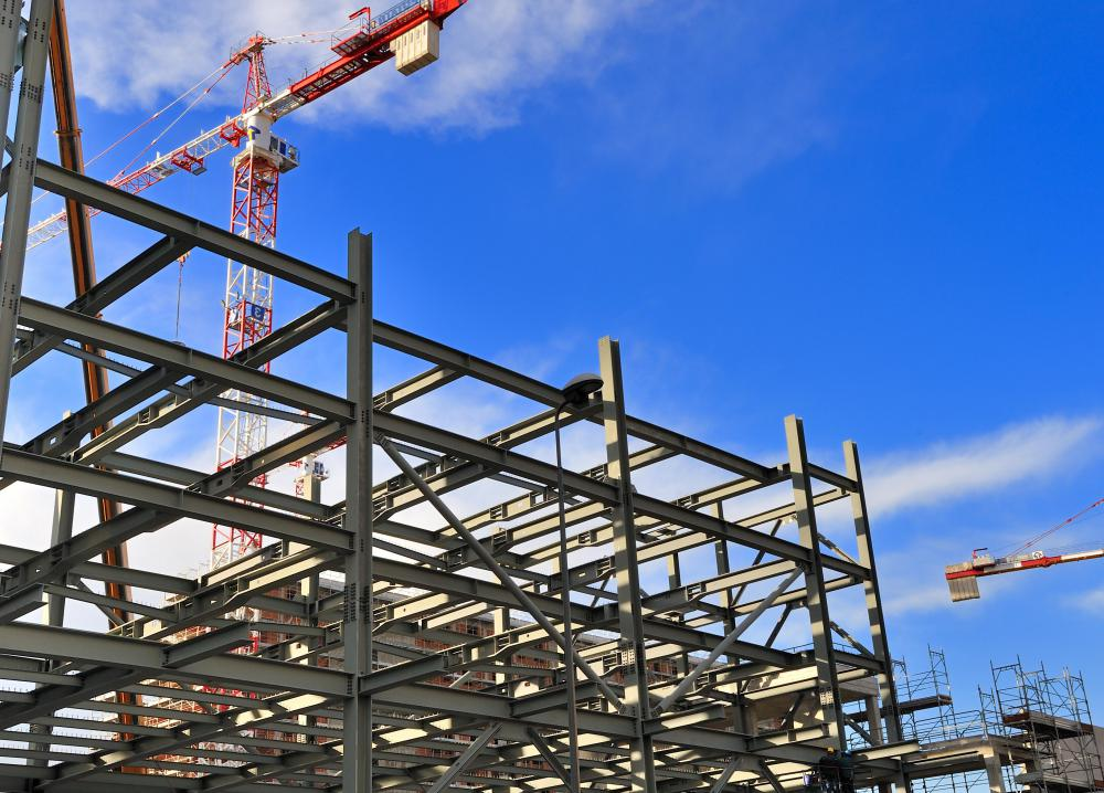 steel frames provide structural support for tall buildings