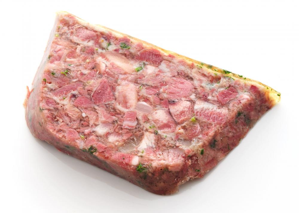 A slice of head cheese.