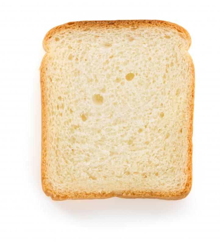 White bread generally contains the least nutritional value of all the bread varieties.