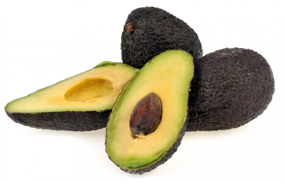 Avocados can be added to a homemade facial scrub.