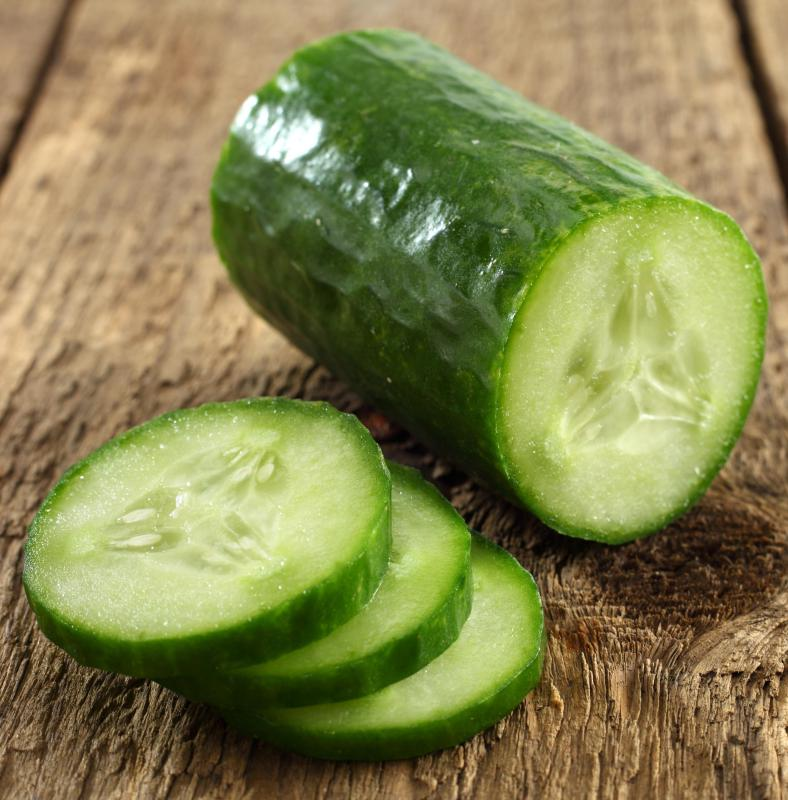 Chilled slices of cucumber are often effective for treating puffy eyes and dark circles.