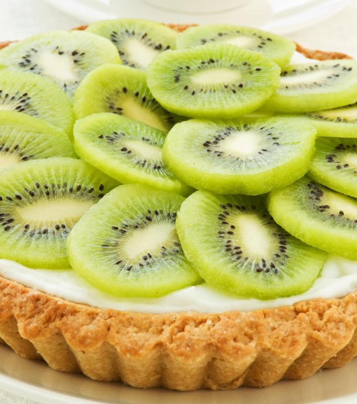 A kiwi and yogurt tart.