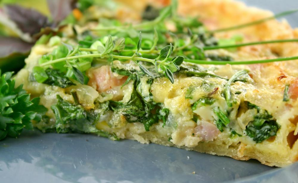 What Is Spinach Feta Quiche? (with pictures)