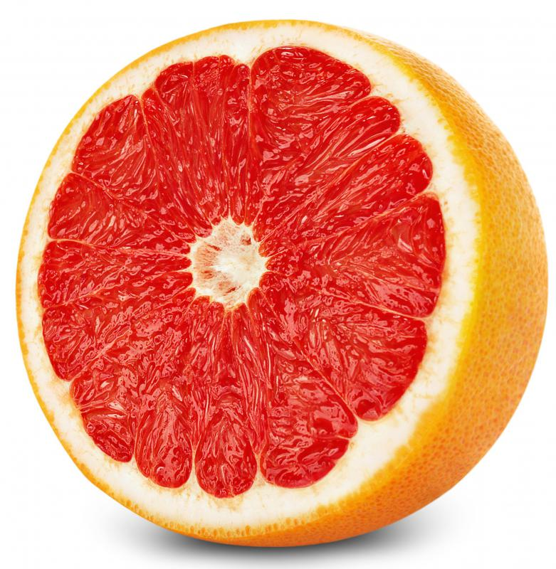Grapefruits are rich in vitamin C.