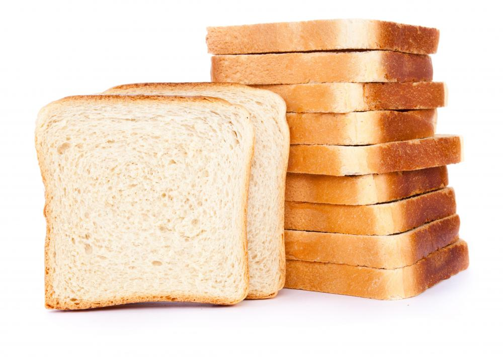 Bread for peanut butter and jelly sandwiches.