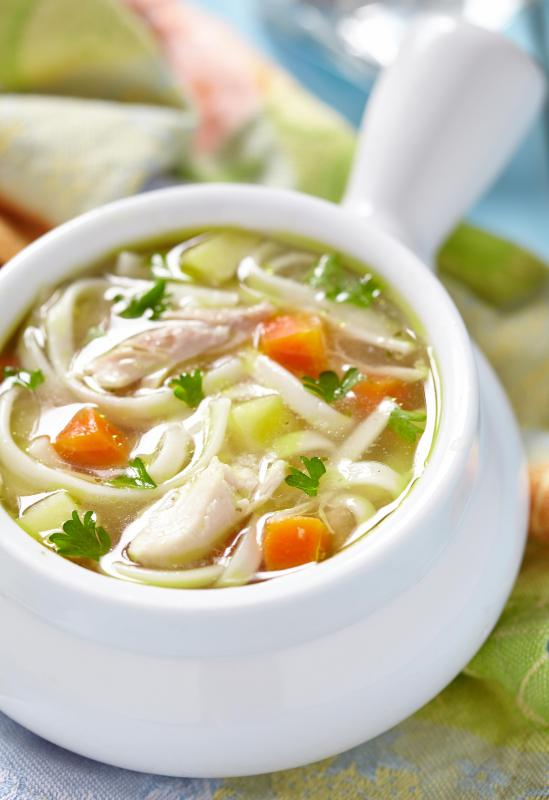 Low-fat chicken may be used to make low calorie chicken soup.