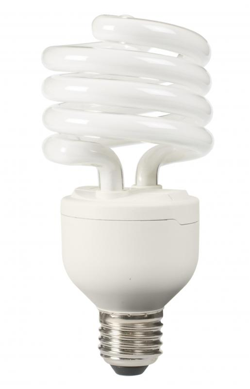 Fluorescent bulbs may be used to provide home lighting.