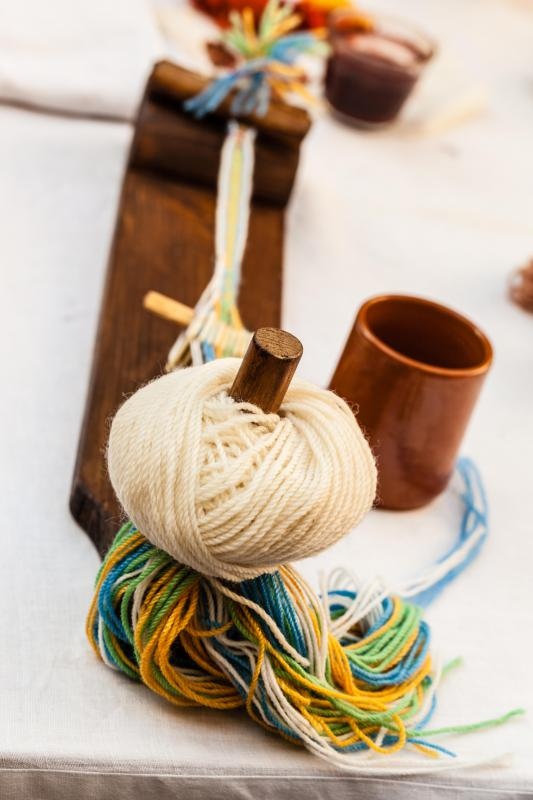 Spun yarn is often used in weaving.