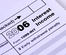 In the United States, Form 1099-INT is an information return notifying the Internal Revenue Service about interest income.