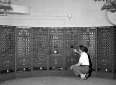 Early electric analog computers used to take up entire rooms.