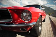 1960s Ford Mustangs are classic muscle cars.