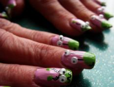 Some people may choose to add 3D nail art to their fingernails for decorative purposes.
